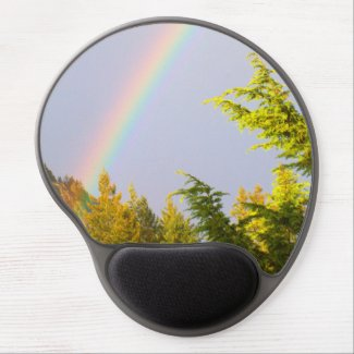 Nature scene gel mouse pad, rainbow, pretty gel mouse pad