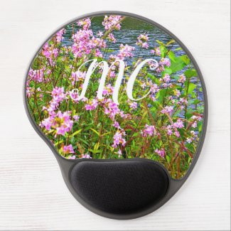 Nature scene gel mouse pad, your initials gel mouse pad