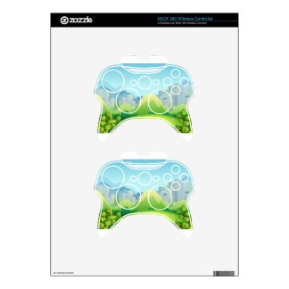 Nature scene with buildings in the background xbox 360 controller skin