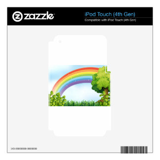 Nature scene with rainbow skin for iPod touch 4G