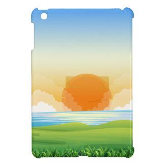 Nature scene with sunset iPad mini cover