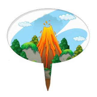 Volcano Cake Toppers | Zazzle