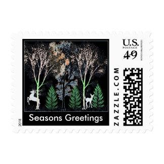 Nature Seasons Greetings Post Stamp