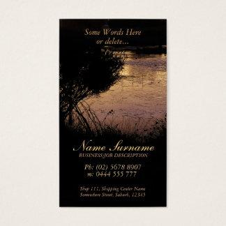 Nature Silhouette Bridge Pond Business Card