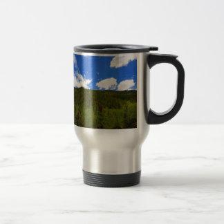 Nature Sky Blue Tree Hills Travel Mug
