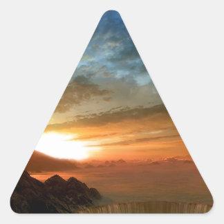 Nature Sky Sunlit Horseshoe Falls Triangle Sticker