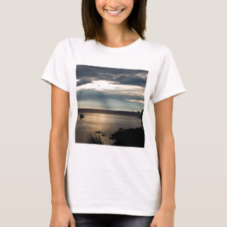 Nature Sky Sunlit Ray Over Bay T-Shirt