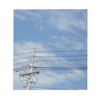 Nature Skyline NewJersey USA Cloud GIFTS nvn673 fu Memo Pad