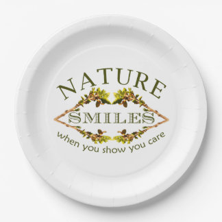 Nature Smiles Paper Plate