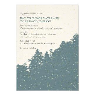 Nature-Snowy Winter Woods Wedding Invites Invite