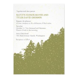 Nature-Snowy Winter Woods Wedding Invites Custom Announcement
