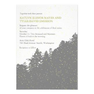Nature -Snowy Winter Woods Wedding Invites Custom Invites