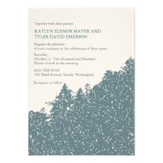 Nature-Snowy Winter Woods Wedding Invites Custom Invitations