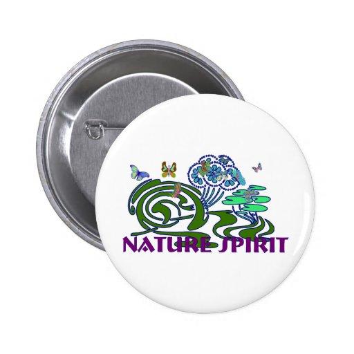 Nature Spirit 2 Inch Round Button