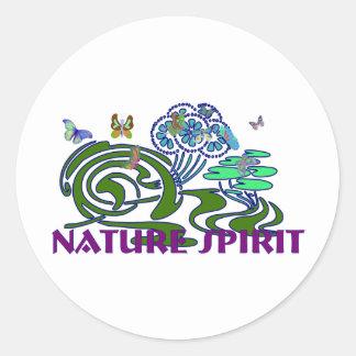 Nature Spirit Classic Round Sticker