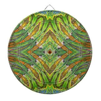 Nature Spring Stylization Design. Green Pattern Dart Boards