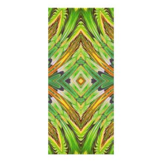 Nature Spring Stylization Design. Green Pattern Rack Card