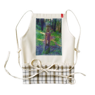 Nature statue zazzle HEART apron