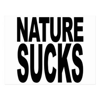 Nature Sucks Postcard