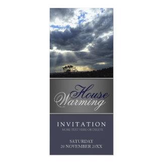 "Nature Sunrays House Warming Invitation 4"" X 9.25"" Invitation Card"