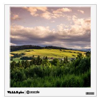 Nature Sunset Hills Landscape In Poland Wall Sticker