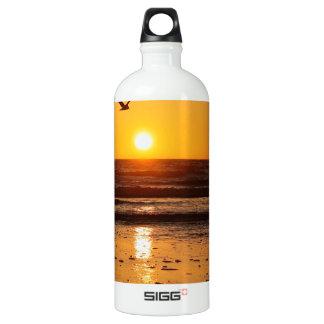 Nature Sunset Ocean Boulevard Aluminum Water Bottle
