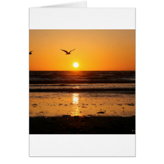 Nature Sunset Ocean Boulevard Card