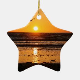 Nature Sunset Ocean Boulevard Ceramic Ornament