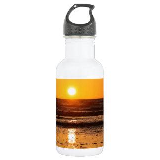 Nature Sunset Ocean Boulevard Stainless Steel Water Bottle