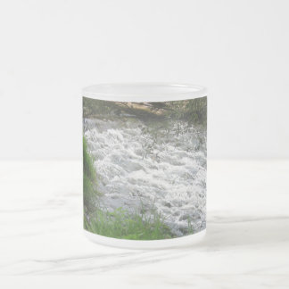 Nature takes its run! frosted glass coffee mug