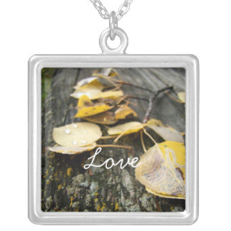 Nature Takes Over; Sweet Nothings Square Pendant Necklace
