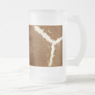 Nature Textured Photo Giraffe Animal Print Pattern Frosted Glass Beer Mug
