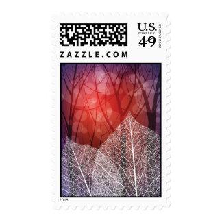 nature theme post stamp