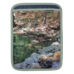 Nature theme water spring iPad sleeves