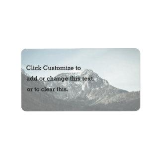 Nature Themed, Beautiful New Zealand Mountain Peak Address Label