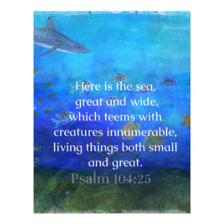 Nature themed Bible Verses about SEA Genesis 1:21 Letterhead