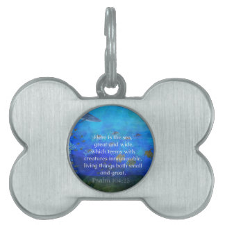 Nature themed Bible Verses about SEA Genesis 1:21 Pet Name Tag