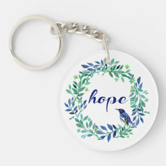 Nature Themed Hope Quote Keychain