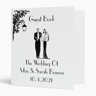 Nature Themed Wedding Guest Book Binder