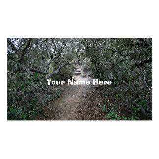 nature trail business card templates