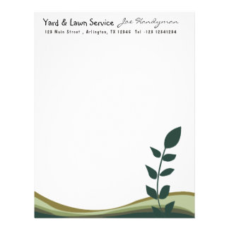 Nature Tree Branch Eco Green Organic Business Letterhead