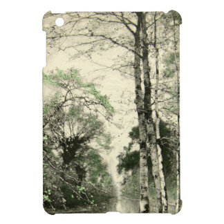 Nature Tree Branch Vintage Green Cream Leaves Case For The iPad Mini