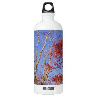 Nature Trees Autumn Burgundy Leaves SIGG Traveler 1.0L Water Bottle