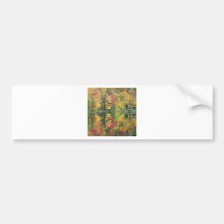 Nature Trees Autumn Colorful Lake Reflection Bumper Sticker