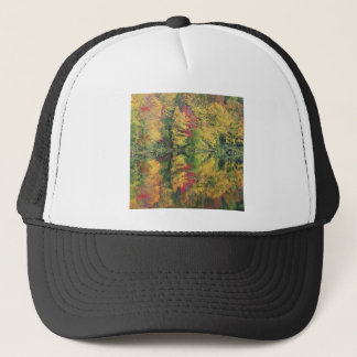Nature Trees Autumn Colorful Lake Reflection Trucker Hat
