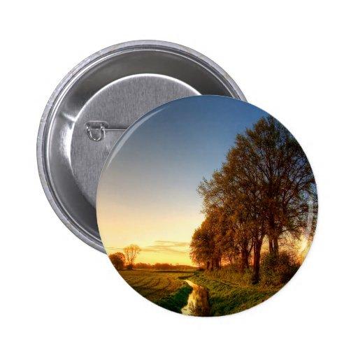 Nature Trees Farmland Night Light Pinback Buttons