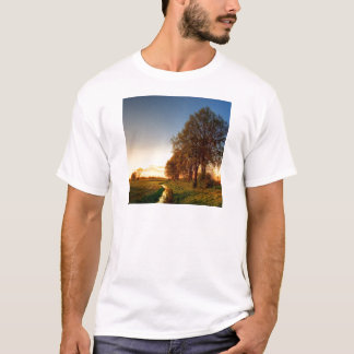 Nature Trees Farmland Night Light T-Shirt