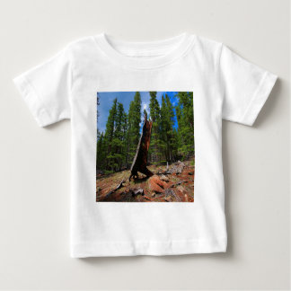 Nature Trees Hollow Caber Baby T-Shirt