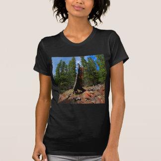Nature Trees Hollow Caber Tee Shirt