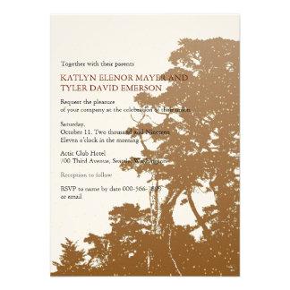 Nature - Trees Love Fall Winter Wedding Invites Personalized Invite